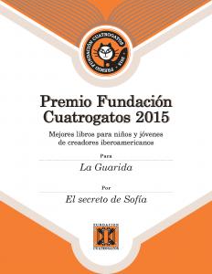 Diploma Premio 2015 - El secreto de Sofia