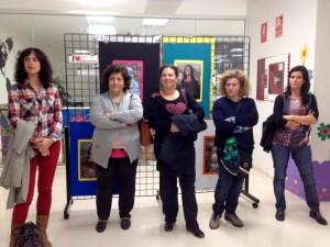 La alcaldesa y los representantes de los colegios de la comarca